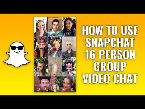 How to Use Snapchat 16 Person Group Video Chat