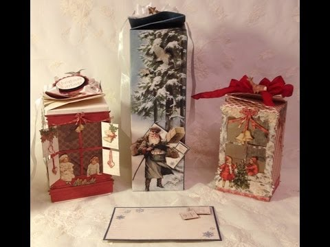 How to make a twisted gift box with Tim Holtz window and window box die