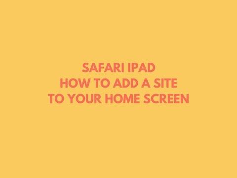 safari ipad add to home screen