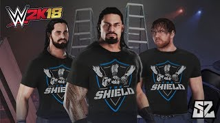 THE SHIELD REUNITE! FULL Tables, Ladders & Chairs Match | WWE 2K18 (Exclusive)