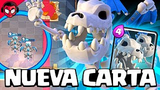 JUGAMOS EN EXCLUSIVA CON EL DRAGÓN ESQUELÉTICO ¡¡LA NUEVA CARTA!! | Sneak Peek | Clash Royale