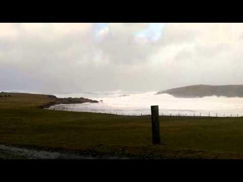 Storm Gertrude, Burra, Shetland Isles 2016
