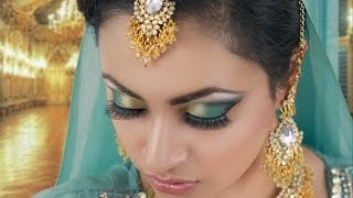 Maroon And Green Smokey Eye Makeup Tutorial Asian Indian Stani