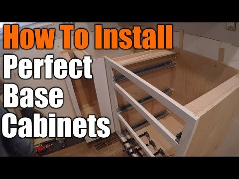 How To Install Perfect Base Cabinets | THE HANDYMAN |