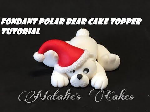 Fondant Polar bear cake topper tutorial