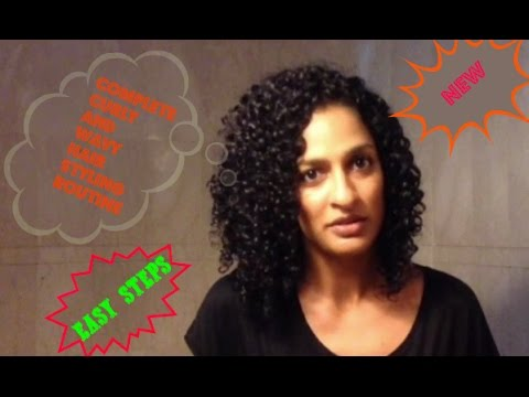 Indian curly and wavy hair complete style routine - from shampoo till drying
