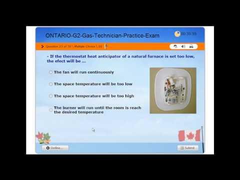 Gas Technician G2 Licensing Exam - TSSA Ontario - Practice Exam