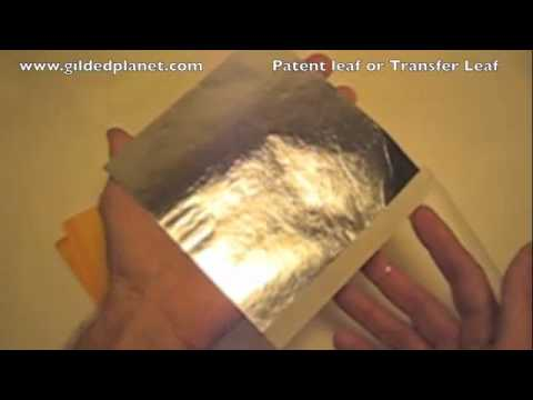 Difference between loose leaf and patent gold and metal leaf