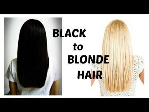 How to bleach black hair blonde