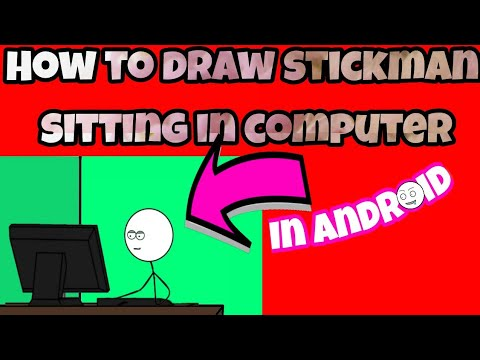 How to draw stickman sitting in computer