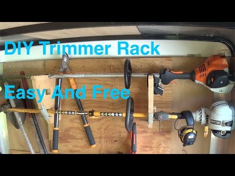 DIY Trimmer Rack anybody can make