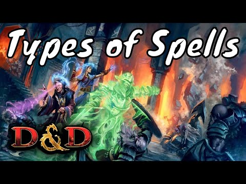 D&D (5e): Types of Spells.