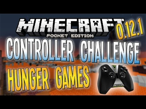 Minecraft PE - CONTROLLER CHALLENGE! - HUNGER GAMES