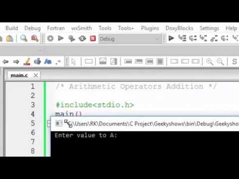 12. Arithmetic Operators Addition in C Programming  (Hindi)