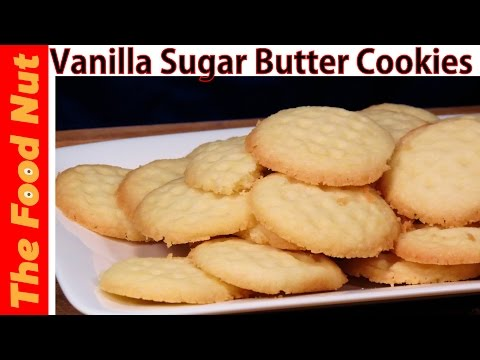 Vanilla Sugar Butter Cookies Recipe With Pudding Mix - How To Make Vanilla Cookies | The Food Nut