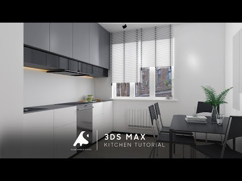 Kitchen Tutorial 3Ds Max Vray Modeling Render+ Photoshop