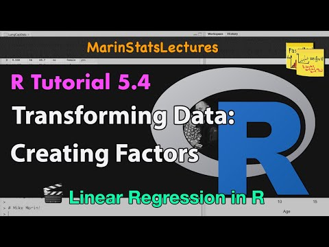 Changing a Numeric Variable to Categorical Variable in R (R Tutorial 5.4)