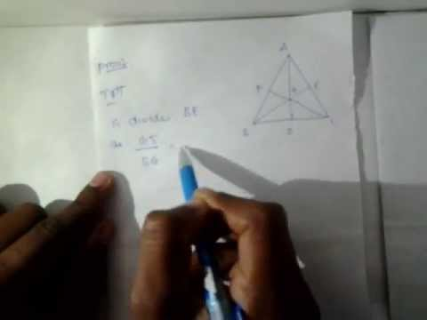 centroid in equilateral triangle  divides bisector in the ratio 2:1