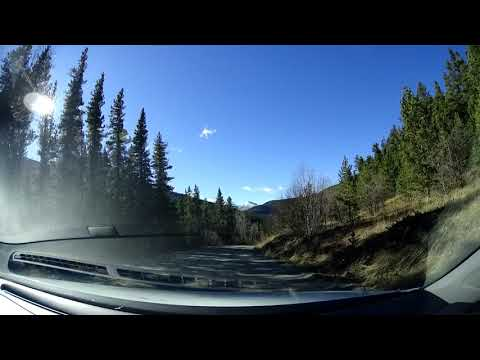 Drive from Canmore to Calgary via the Powderface trail - Timelapse