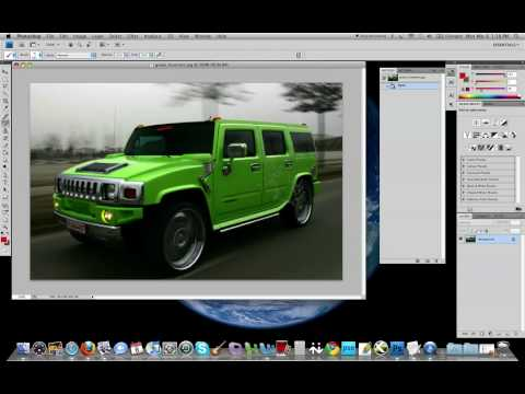How to change the colour of a Car in Photoshop CS4!