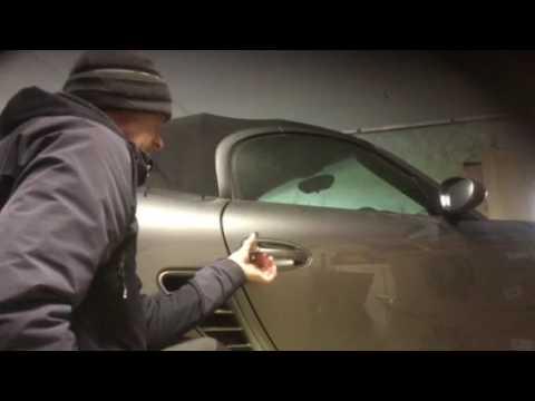 Car keys locked in a Porsche