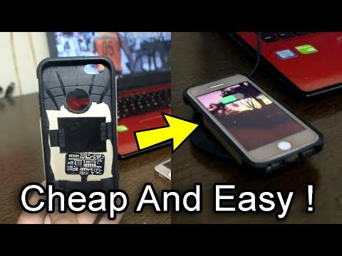 How To Make Your Wireless Charging Case For iPhone SE ! DIY iPhone Cases!Works With Android As Well.