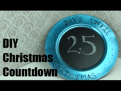 Christmas Countdown Chalkboard Charger