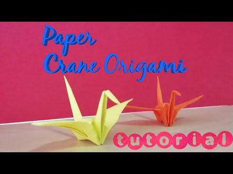 How To Make a Paper Crane Origami (tutorial)