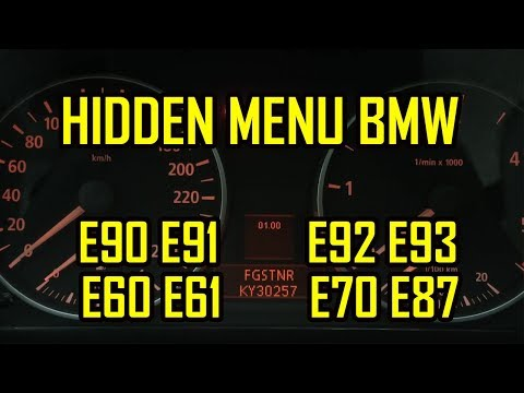 BMW E90 E91 E92 E93 E60 E61 E70 E87 Secret Hidden Menu