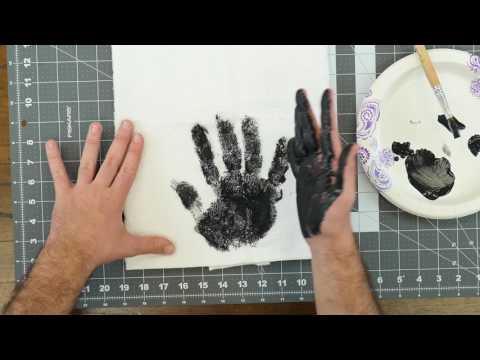 Handprint Dish Towel | AllFreeKidsCrafts