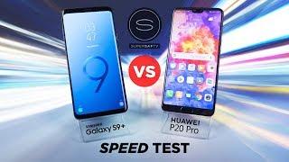 Huawei P20 Pro vs Samsung S9 Plus SPEED Test
