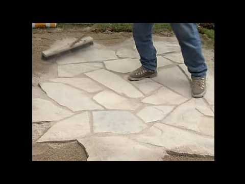 Flagstone installation with enviro bond sand