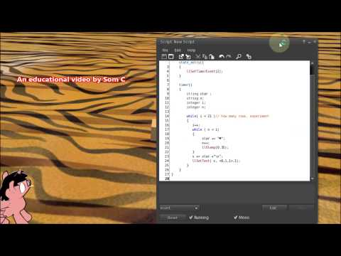 Nested Loop Example-Make a Text Animation in LSL-Get The free Script