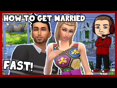 Sims 4 - How to Get Married FAST! (Challenge & Tutorial)