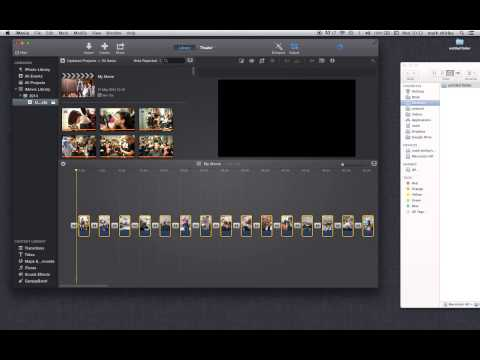 apple Imovie 10 create a simple slide show with music