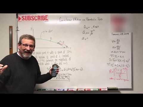 Dynamics - Lesson 10: Curvilinear Motion on a Parabolic Path