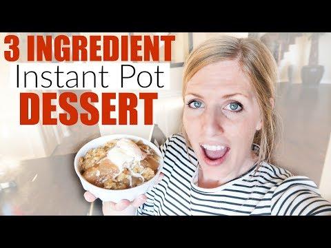 Instant Pot Apple Dump Cake - Three Ingredient Dessert - Perfect for Beginners!