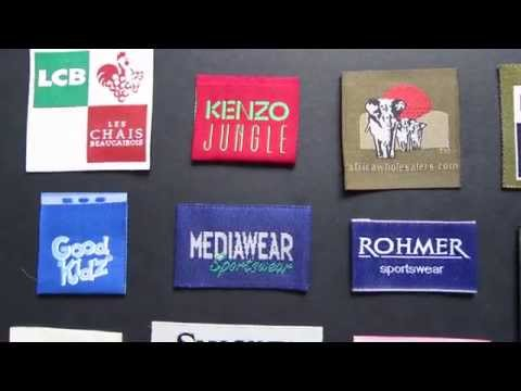 Woven High Definition Garment Labels, Designer Woven Clothing Labels - Low Minimum