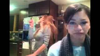 "Bella Thorne & Zendaya dancing to Ke$ha's ""Blow"" during a livechat"