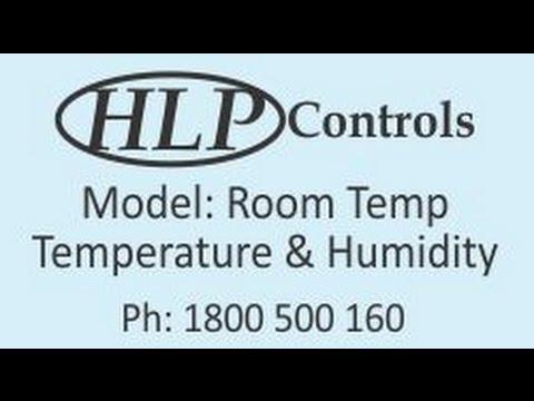 HLP Controls - Temperature and Humidity Display - Model: Room Temp