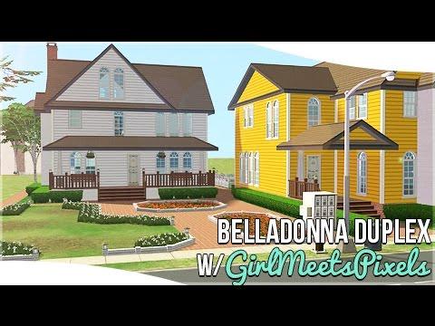 The Sims 2: House Building    BellaDonna Duplex    w/GirlMeetsPixels    #DesignandDecorate