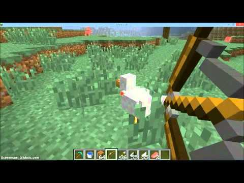 Minecraft - How to craft a bow and arrow