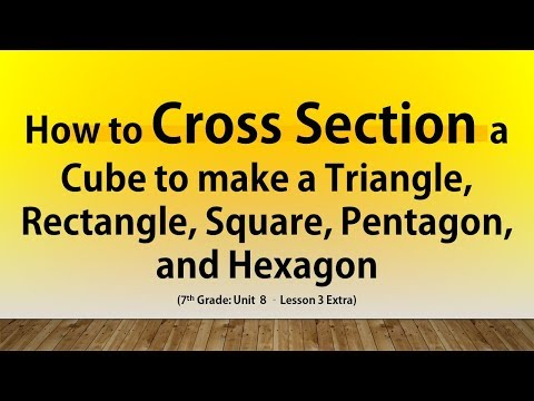 How to Cross Section a Cube to make a Triangle, Rectangle, Square, Pentagon and Hexagon