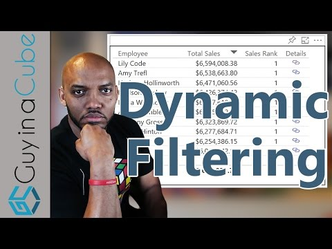 Dynamic filtering with Power BI