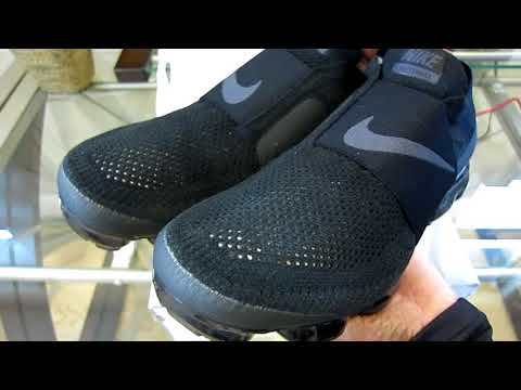 New Nike Air VaporMax Flyknit Moc Shoe In Black Unboxing & Review