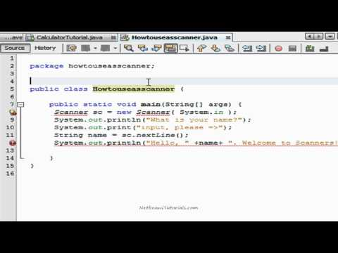 How to use a Scanner in Netbeans - Java tutorial