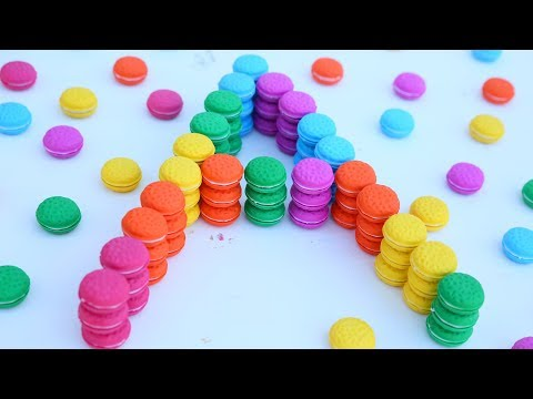 Learn Colors Macaroon Alphabet spelling A B C Learn And Play Kids Video