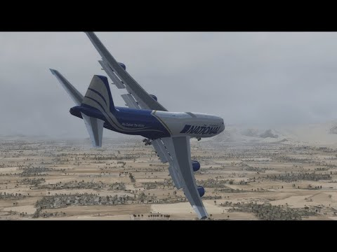 Boeing 747 Crash in Afghanistan - National Airlines Flight 102 - P3D