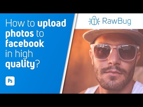 How to upload photos to facebook in high quality | Photoshop CC | Tutorial