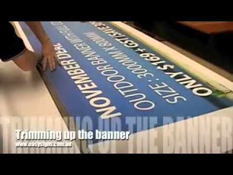 1 How to make an outdoor banner from start to finish!